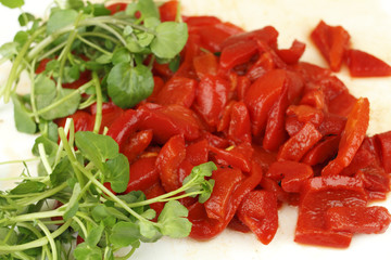 Watercress and Red Peppers