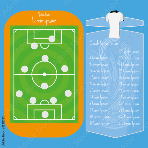 Soccer Field Editable With Space For Text