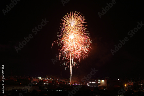 fireworks over sky
