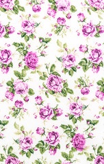 Rose Fabric background, Fragment of colorful retro tapestry text
