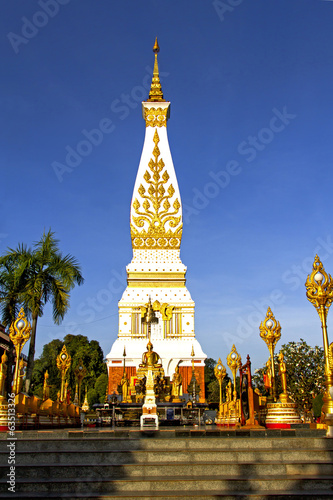 clear sky Chedi  Phra That Phanom
