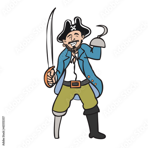 Pirate hook hand and sword