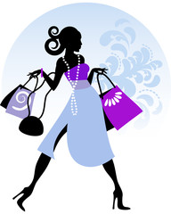 Lady in shopping