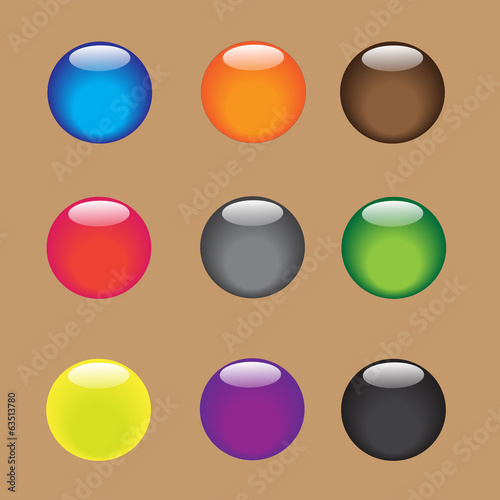 Color vector sphere with glossy and shiny