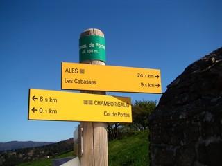 Chemin de randonnée en Cevennes