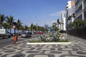 Rio de Janeiro. The Seafront Of Copacabana.