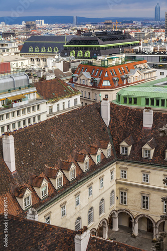 Vienna, Austria. View of the city from the Cathedral of Saint St