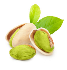 Pistachio nuts isolated