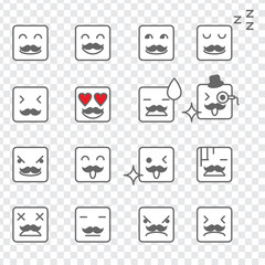 Square Face Emoticons