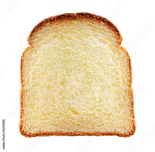 Toast isolated.