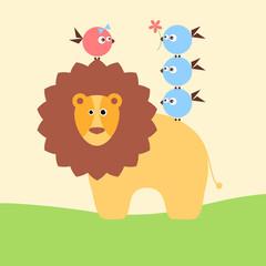 Lion_and_birdies