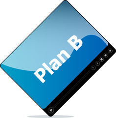 plan b on media player interface