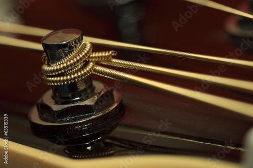 Leinwanddruck Bild Wirbel Westerngitarre