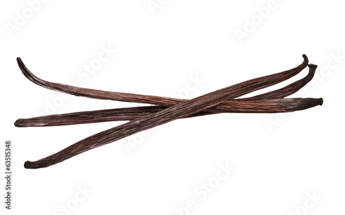 Vanilla pods isolated