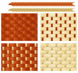 Мector seamless background patterns of basketry of Wickers