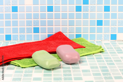 Soap on tile