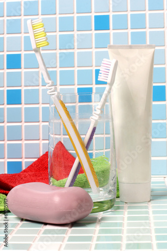 Toothbrush and soap