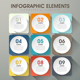 Fototapety abstract option infographics