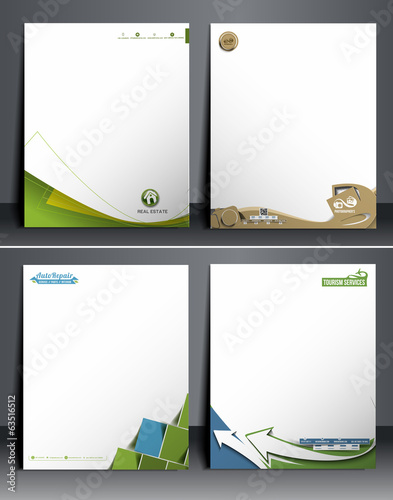 Set of Business Style Corporate Identity Template