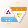 Abstract infographic design with triangles