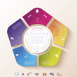 Abstract infographic design with circle and five segments