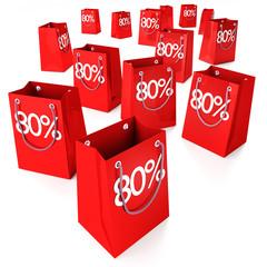 Einkaufstüten 80%
