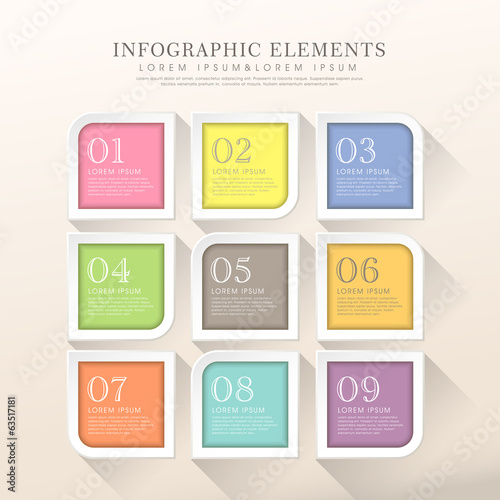 abstract tag infographics