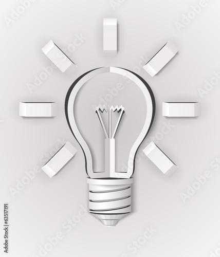 Abstract Light Bulb