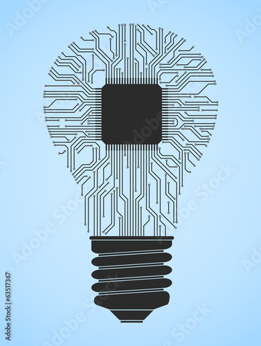 Computer Chip Light Bulb