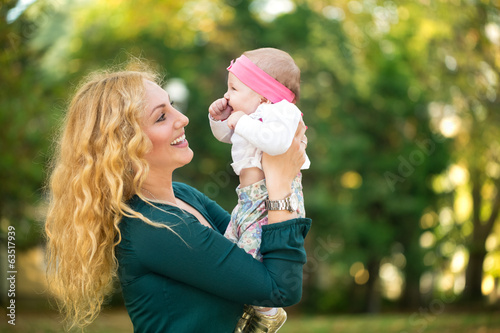 Mom with baby outdoor