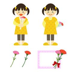 母の日 女の子 / vector eps