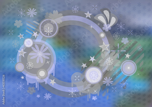 Abstract frame with background