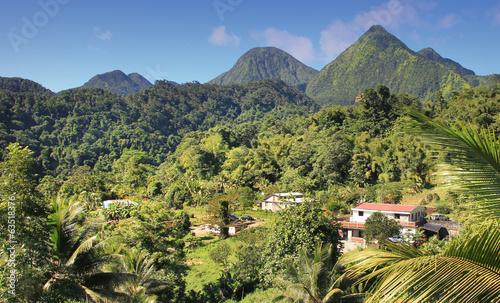 canvas print picture Traumhafte Landschaft auf Dominica - Karibik