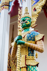 Demon Guardian Wat Sriburaparam Palace Trat