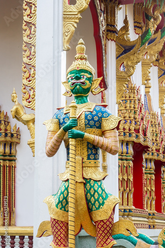 Demon Guardian Wat Sribruraparam Palace Trat