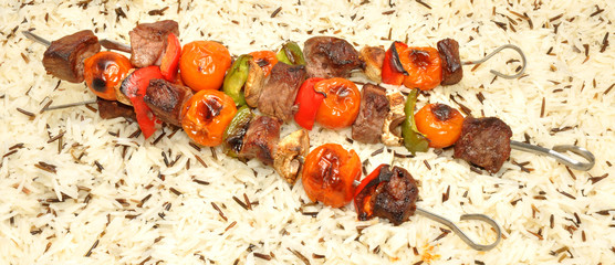Grilled Beef And Vegetable Kebabs