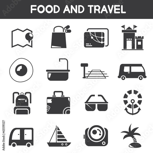 food and travel icons