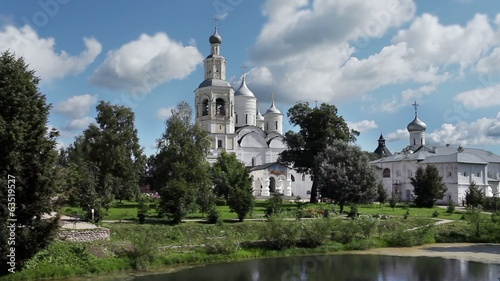 View of the Russian Orthodox monastery