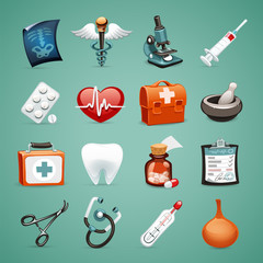Medical Icons Set1.1 With Clipping Paths