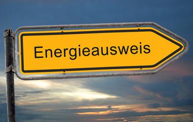 Strassenschild 19 - Energieausweis