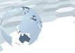 Earth globe over geometrical background