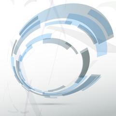 Modern blue round abstract design element