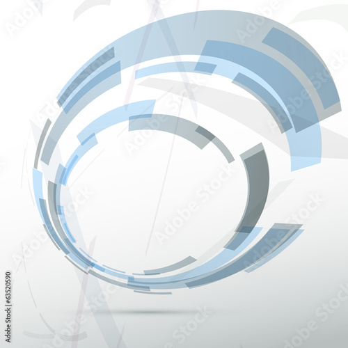 Modern blue round abstract design element