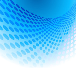Blue dots background abstract