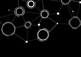 Creative network black-white contrast background