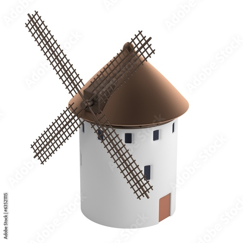 realistic 3d render of windmill