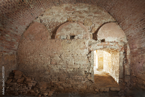old construction of cellar for beer or wine