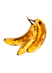 Over Ripe Bananas Isolated