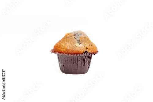 Blueberry muffin isolated