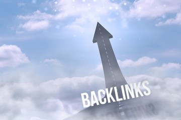 Backlinks against road turning into arrow